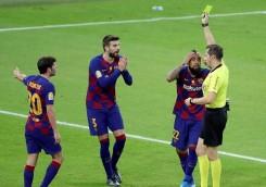 بارسلونا ۲-۳ اتلتیکو مادرید؛ حذف آبی و اناری پوشان در بازی جنجالی