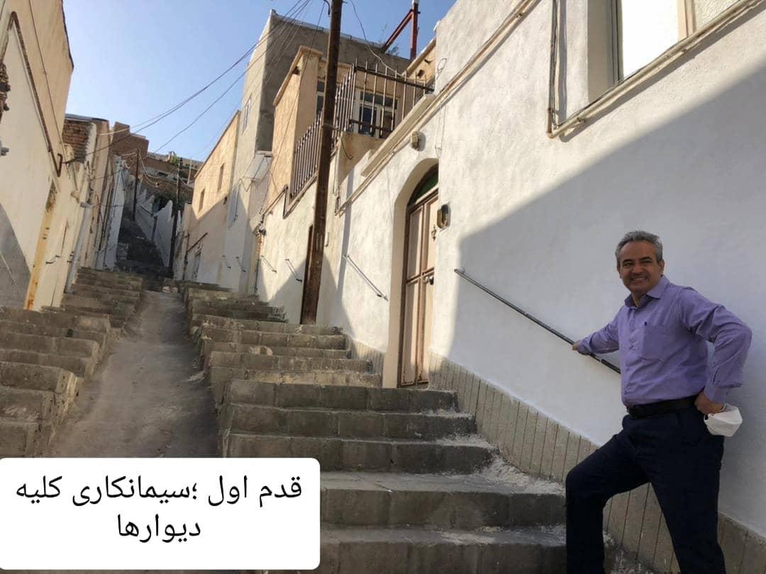 """گزارش تصویری از  شهردار منطقه یک تبریز در جریان اجرای پروژه """" یاشئل کوچه """""""